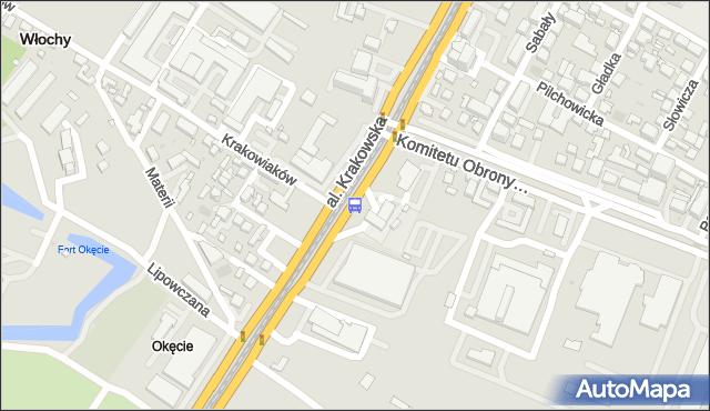 Przystanek Krakowiaków 01. ZTM Warszawa - Warszawa (id 401201) na mapie Targeo