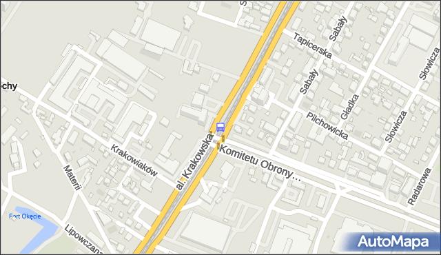 Przystanek Krakowiaków 04. ZTM Warszawa - Warszawa (id 401204) na mapie Targeo