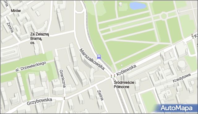 Przystanek Królewska 06. ZTM Warszawa - Warszawa (id 701506) na mapie Targeo