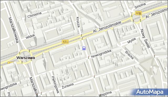 Przystanek Krucza 03. ZTM Warszawa - Warszawa (id 703303) na mapie Targeo