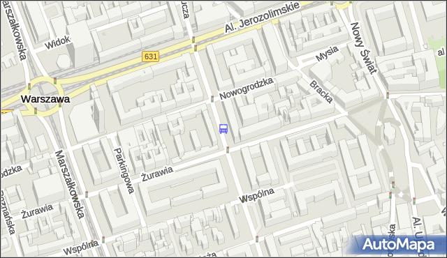 Przystanek Krucza 04. ZTM Warszawa - Warszawa (id 703304) na mapie Targeo