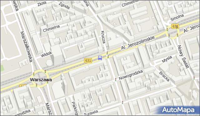 Przystanek Krucza 05. ZTM Warszawa - Warszawa (id 703305) na mapie Targeo