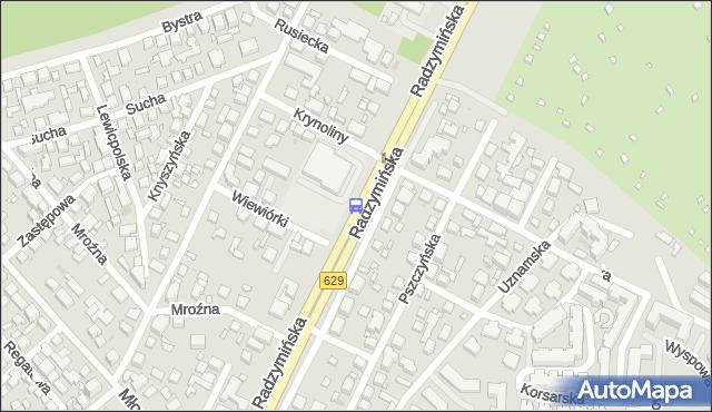 Przystanek Krynoliny 01. ZTM Warszawa - Warszawa (id 127901) na mapie Targeo