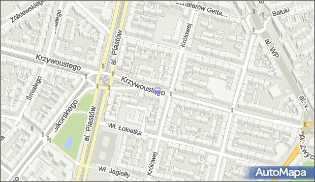 Przystanek Krzywoustego 11. ZDiTM Szczecin - Szczecin (id 10511) na mapie Targeo
