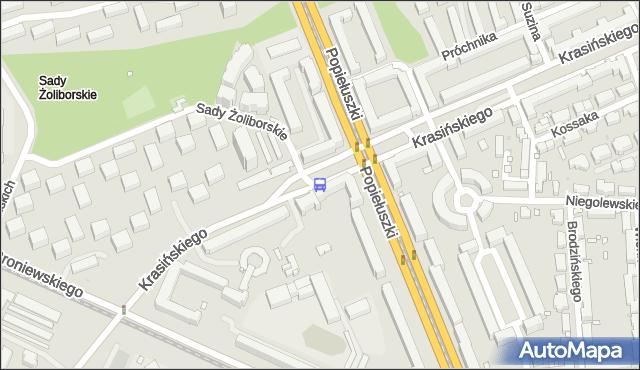 Przystanek ks.Popiełuszki 05. ZTM Warszawa - Warszawa (id 609405) na mapie Targeo