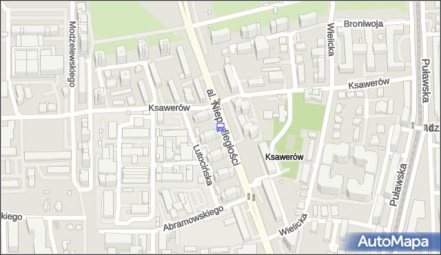 Przystanek Ksawerów 01. ZTM Warszawa - Warszawa (id 311001) na mapie Targeo
