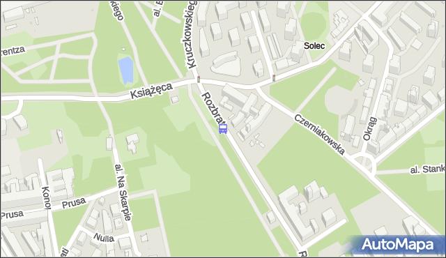 Przystanek Książęca 01. ZTM Warszawa - Warszawa (id 706901) na mapie Targeo