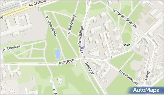 Przystanek Książęca 02. ZTM Warszawa - Warszawa (id 706902) na mapie Targeo
