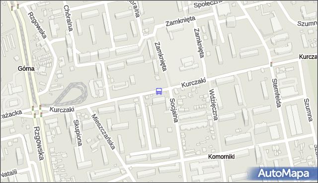Przystanek Kurczaki - Socjalna. MPKLodz - Łódź (id 420) na mapie Targeo