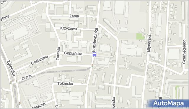 Przystanek Łagiewnicka - Dolna. MPKLodz - Łódź (id 488) na mapie Targeo