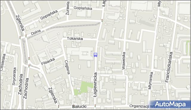 Przystanek Łagiewnicka - Dolna. MPKLodz - Łódź (id 517) na mapie Targeo