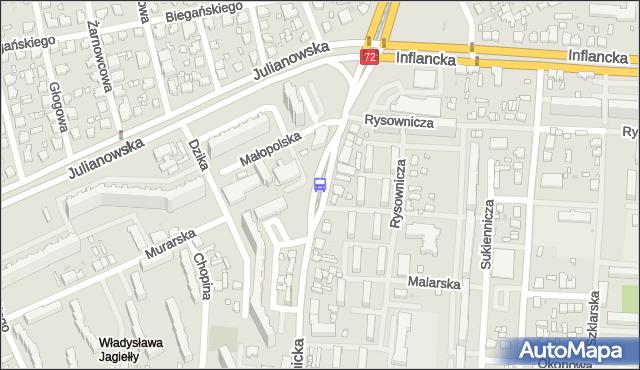Przystanek Łagiewnicka - Murarska. MPKLodz - Łódź (id 514) na mapie Targeo