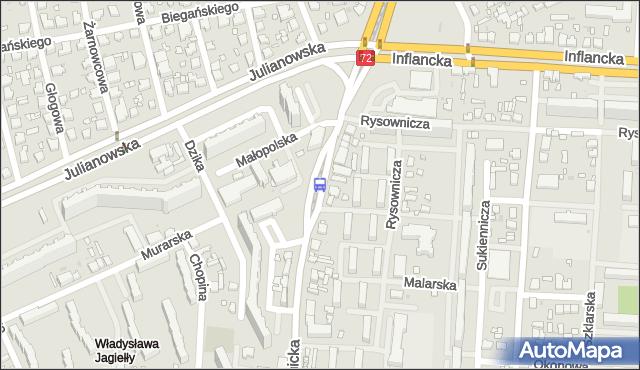 Przystanek Łagiewnicka - Murarska. MPKLodz - Łódź (id 1824) na mapie Targeo