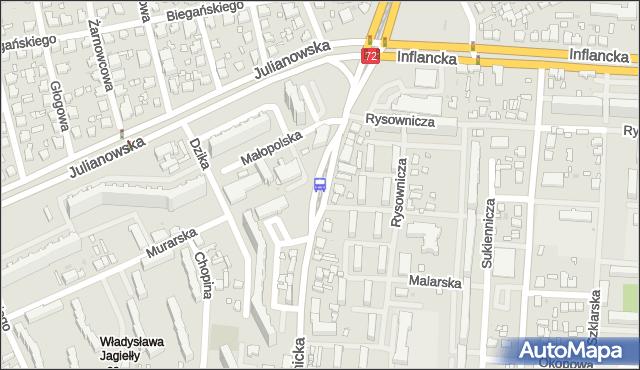 Przystanek Łagiewnicka - Murarska. MPKLodz - Łódź (id 1825) na mapie Targeo