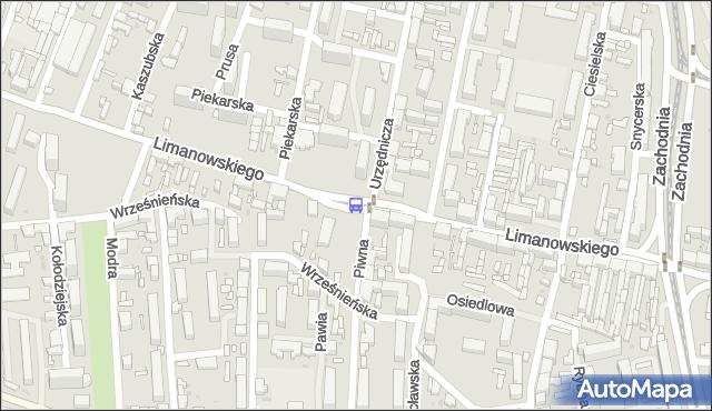Przystanek Limanowskiego - Piwna. MPKLodz - Łódź (id 442) na mapie Targeo
