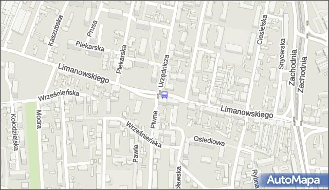 Przystanek Limanowskiego - Piwna. MPKLodz - Łódź (id 445) na mapie Targeo