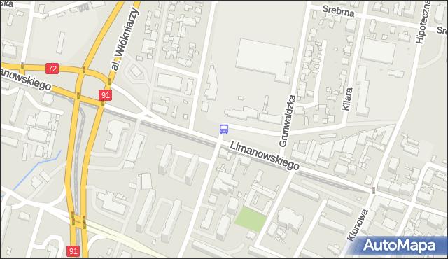 Przystanek Limanowskiego - zajezdnia LIMANOWSKIEGO. MPKLodz - Łódź (id 9013) na mapie Targeo