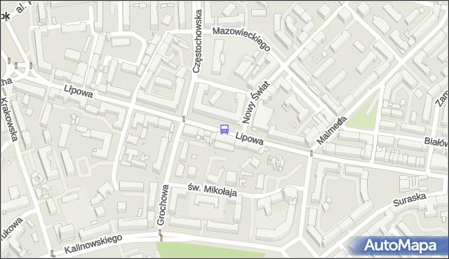 Przystanek LIPOWA/NOWY ŚWIAT. BKM - Białystok (id 210) na mapie Targeo