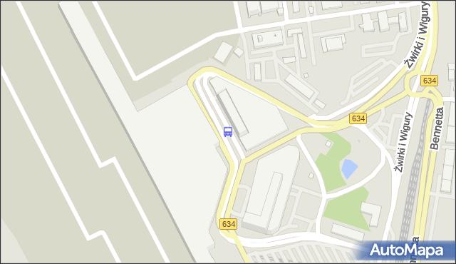 Przystanek Lotnisko Chopina-Odloty 01. ZTM Warszawa - Warszawa (id 420001) na mapie Targeo