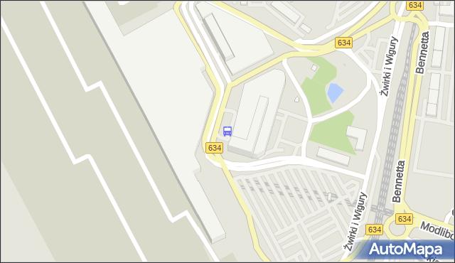 Przystanek Lotnisko Chopina-Przyloty 02. ZTM Warszawa - Warszawa (id 420102) na mapie Targeo