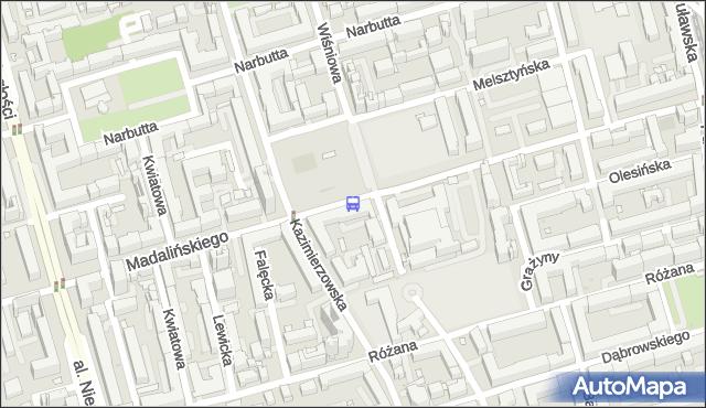 Przystanek Madalińskiego-Szpital 01. ZTM Warszawa - Warszawa (id 310601) na mapie Targeo