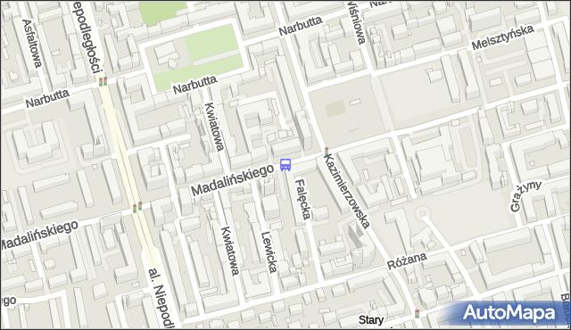 Przystanek Madalińskiego-Szpital 02. ZTM Warszawa - Warszawa (id 310602) na mapie Targeo