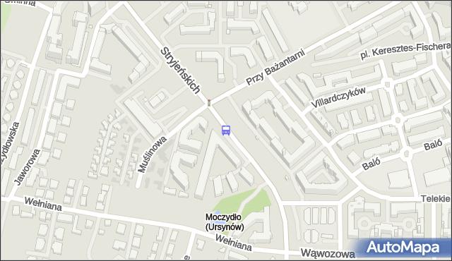 Przystanek Małej Łąki 04. ZTM Warszawa - Warszawa (id 320304) na mapie Targeo