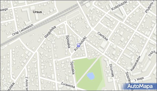 Przystanek Malinowa 01. ZTM Warszawa - Warszawa (id 410001) na mapie Targeo