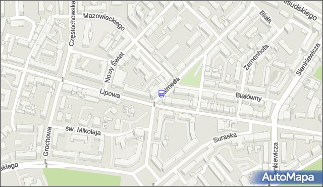 Przystanek Malmeda/Lipowa. BKM - Białystok (id 309) na mapie Targeo