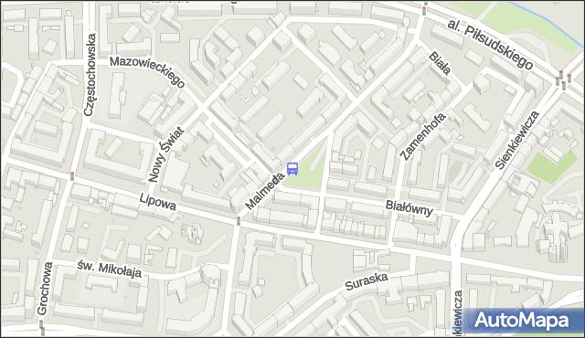 Przystanek MALMEDA/ZAMENHOFA. BKM - Białystok (id 308) na mapie Targeo