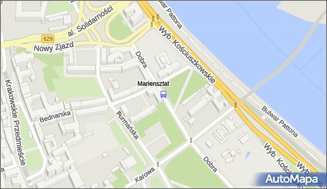 Przystanek Mariensztat 03. ZTM Warszawa - Warszawa (id 705903) na mapie Targeo