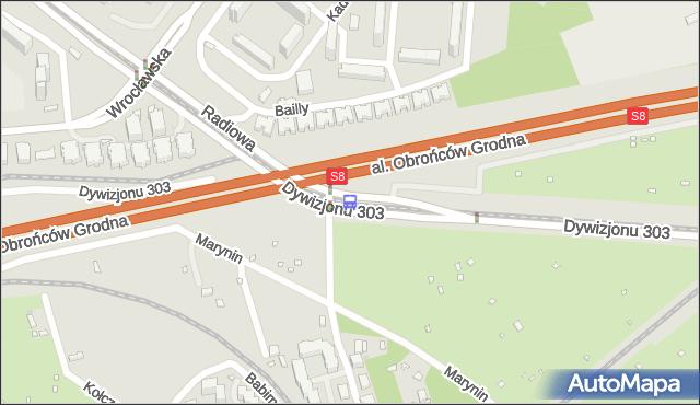 Przystanek Marynin 02. ZTM Warszawa - Warszawa (id 507402) na mapie Targeo