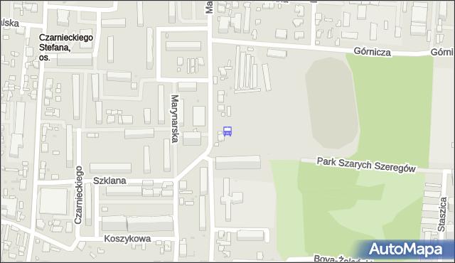 Przystanek Marysin Stadion. MPKLodz - Łódź (id 567) na mapie Targeo