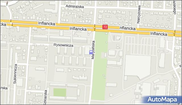 Przystanek Marysińska - Inflancka. MPKLodz - Łódź (id 568) na mapie Targeo