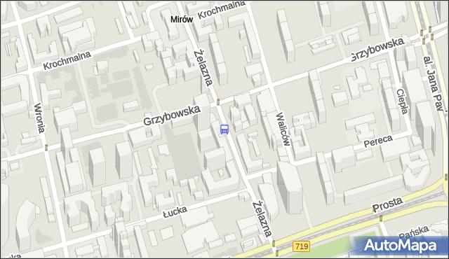 Przystanek Mennica 03. ZTM Warszawa - Warszawa (id 503603) na mapie Targeo