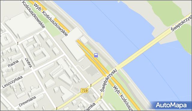 Przystanek Metro Centrum Nauki Kopernik 02. ZTM Warszawa - Warszawa (id 707902) na mapie Targeo