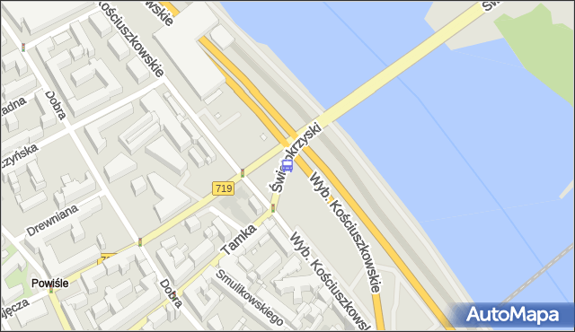 Przystanek Metro Centrum Nauki Kopernik 03. ZTM Warszawa - Warszawa (id 707903) na mapie Targeo