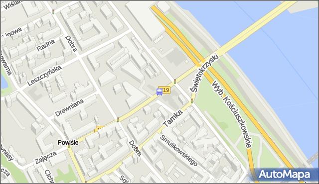 Przystanek Metro Centrum Nauki Kopernik 04. ZTM Warszawa - Warszawa (id 707904) na mapie Targeo