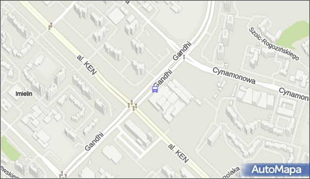 Przystanek Metro Imielin 01. ZTM Warszawa - Warszawa (id 328001) na mapie Targeo
