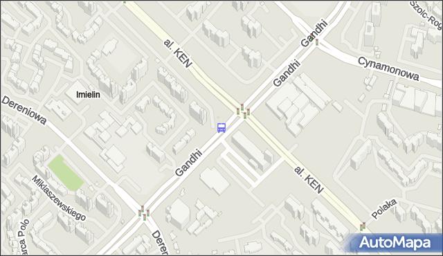 Przystanek Metro Imielin 02. ZTM Warszawa - Warszawa (id 328002) na mapie Targeo