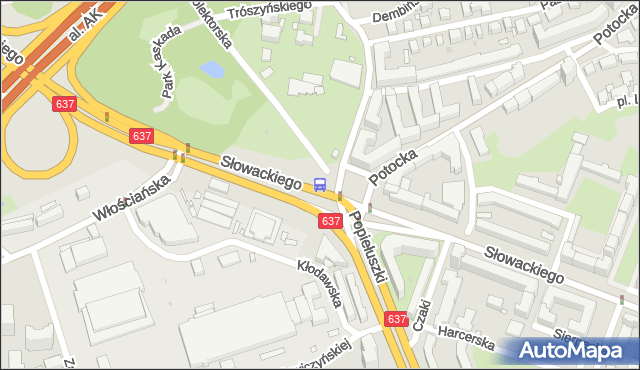 Przystanek Metro Marymont 03. ZTM Warszawa - Warszawa (id 600503) na mapie Targeo