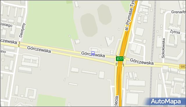 Przystanek Metro Młynów 02. ZTM Warszawa - Warszawa (id 502802) na mapie Targeo