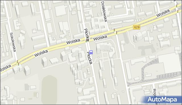 Przystanek Metro Płocka 06. ZTM Warszawa - Warszawa (id 500506) na mapie Targeo