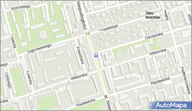 Przystanek Metro Racławicka 02. ZTM Warszawa - Warszawa (id 323002) na mapie Targeo