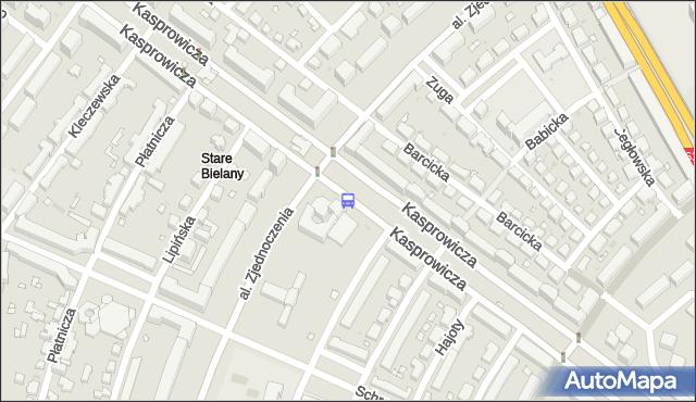 Przystanek Metro Stare Bielany 01. ZTM Warszawa - Warszawa (id 605201) na mapie Targeo