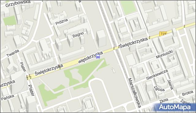 Przystanek Metro Świętokrzyska 03. ZTM Warszawa - Warszawa (id 701403) na mapie Targeo