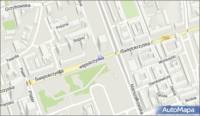 Przystanek Metro Świętokrzyska 04. ZTM Warszawa - Warszawa (id 701404) na mapie Targeo