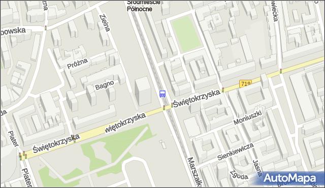Przystanek Metro Świętokrzyska 05. ZTM Warszawa - Warszawa (id 701405) na mapie Targeo