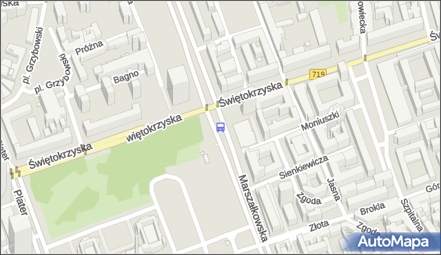 Przystanek Metro Świętokrzyska 06. ZTM Warszawa - Warszawa (id 701406) na mapie Targeo