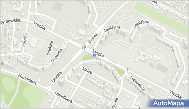 Przystanek Metro Trocka 01. ZTM Warszawa - Warszawa (id 114001) na mapie Targeo